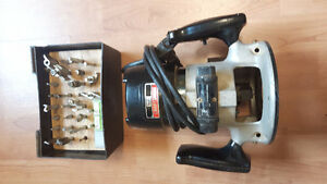 For sale: Craftsman Router with 24 bits