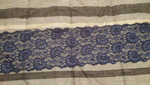 Navy blue lace table runners (36)