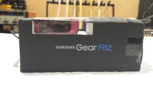 Pink Samsung Gear Fit 2 fitness Smart Watch