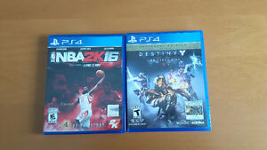 PS4 Games: Destiny The Taken King and NBA 2K16