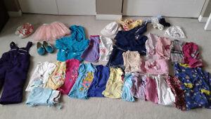 Girls clothing lot size 2