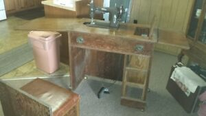 antique sewing station