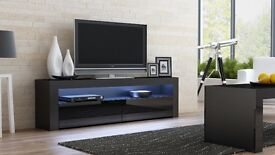 BRAND NEW DOUBLE STORAGE TV UNIT WITH LED LIGHING