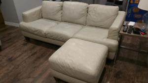 Leather sofa set - Natuzi Editions