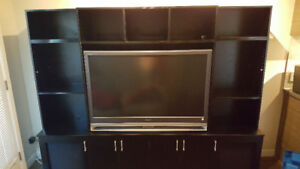 "46"" SONY HD PROJECTION TV & TV CABINET"