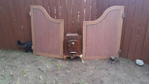 Saloon Doors and antique stove