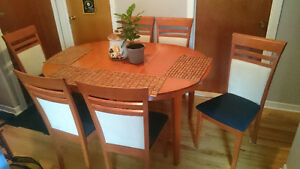 Ash Dining Table 6 chs / Ash Table Cuisine 6 chs
