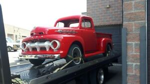 "1952 Ford F3 , Chevy engine, trans, 9"" rear end"