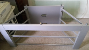 Glass top TV stand with glass shelf