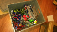 Large assortment of transformers figures