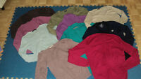 10 sweaters, size med/large+12 hats