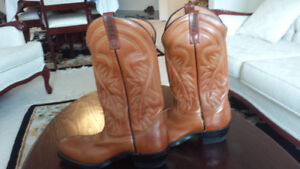 Men's Leather Cowboy boots- Red Wings brand