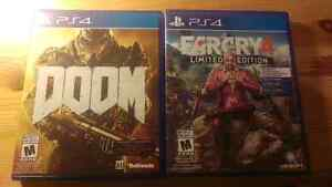 Doom and farcry 4 for ps4