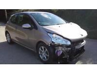 Peugeot 208 1.0 VTi ( 68bhp ) 2014 Active DAMAGED SPARES OR REPAIR SALVAGE