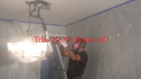 Popcorn ceiling removal to smooth ceilings experts