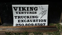 Viking ventures  ltd  7 yard dump truck /excavating service