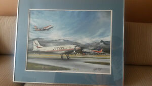 Painting- Canadian Pacific Airlines Aviation History West Island Greater Montréal image 1