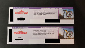 Canada's Wonderland Day Ticket x2