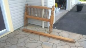 Single Antique Wood Bed Frame