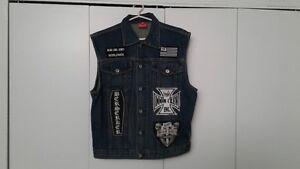 Veste Black Label Society (Fan) denim (jeans) avec full Patch