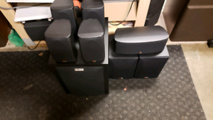 7.1 Sony amp and Polk Audio home theater system