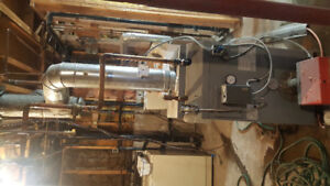 6 month old oil tank and boiler for sale