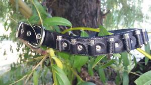 Black leather Bullet Belt