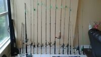FISHING RODS AND REELS TACKLE LURES