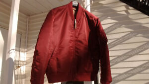 ALPHA INDUSTRIES : VF 59 (vintage MA-1) Maroon. Mid Seasons coat