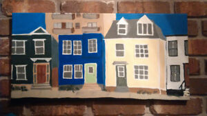 "Folk Art Painting ""West Street"""