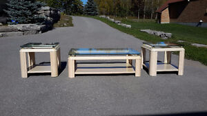 Three piece coffee and end tables Peterborough Peterborough Area image 1