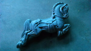Boblo Park horse pony ride antique metal stallion statue toy