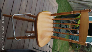 Two (2) Solid Pine Swivel Bar Chairs