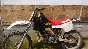1985 yz 125 runs great needs a tiny bit of tlc trade for a 80cc