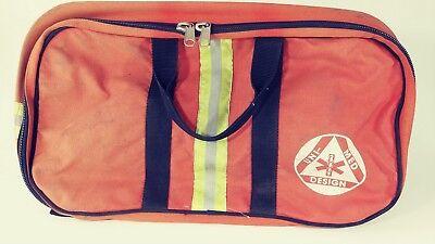 Vintage Uni-med Design Rescue Orange Medical Bag Backpack