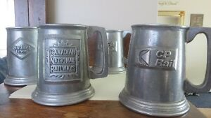 Vintage Pewter Tankards - $20 each