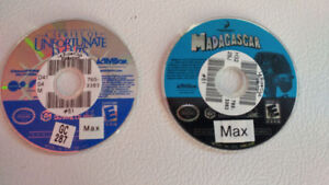 Jeux Gamecube Madagascar et Unfortunate Events