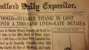 Steamer Titanic is Lost - antique - authentic newspaper - ships London Ontario image 2