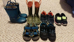 7/8 toddler shoe/boot lot