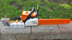 Stihl MS170 chainsaw practically new