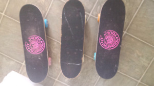 Skateboards   small  size.