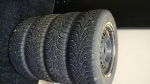 185/70R14 Snow Tires and Rims