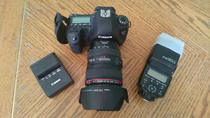 Canon 6D w/ 24-105 f/4L IS + extras