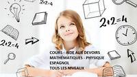 Mathématiques - Physique - Espagnol