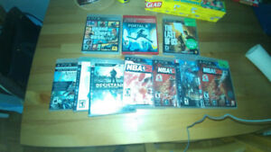 Ps3 console plus game collection