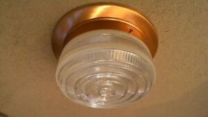 Ceiling light fixture copper colour