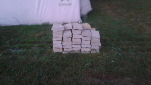 LANDSCAPING LIMESTONE ROCK CUT AT 6 INCHES WIDE