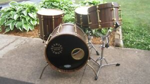 1999 BEARING EDGE Custom Drums 4 Pc. / Macassar Ebony