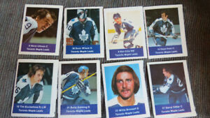 1975/75 Save Easy/Loblaws NHL cards(Toronto)(8)