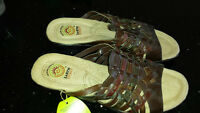 3 pairs of Leather Sandals - Size 9